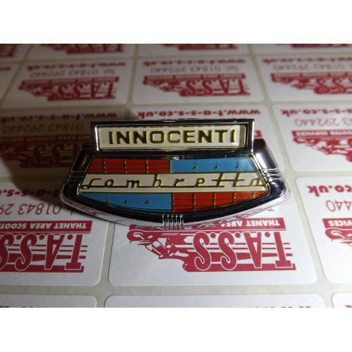 INNOCENTI HORNCAST BADGE LI 2-3 TV SX GOLD LETTERING