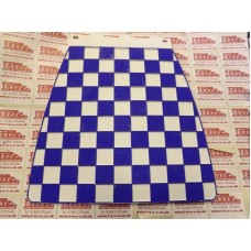 MUDFLAP DARK BLUE AND WHITE CHECK 60's style