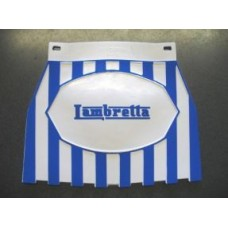 LAMBRETTA LOGO MUDFLAP BLUE & WHITE STRIPES