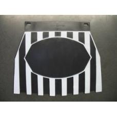 BLACK & WHITE STRIPE MUDFLAP