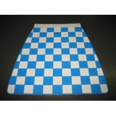 MUDFLAP BLUE AND WHITE CHECK 60's style