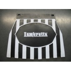 LAMBRETTA LOGO MUDFLAP BLACK & WHITE STRIPES