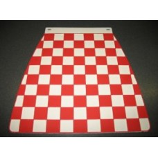 MUDFLAP RED AND WHITE CHECK 60's style
