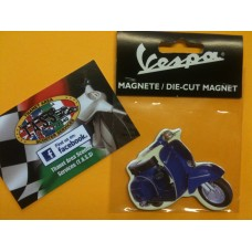 VESPA FRIDGE MAGNET BLUE