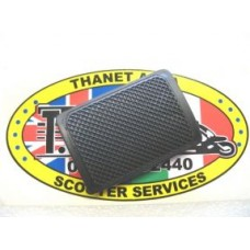 BRAKE PEDAL RUBBER BLACK  INNOCENTI LOGO
