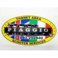 PIAGGIO HORNCAST BADGE PIAGGIO CLIP IN