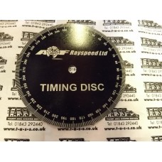 IGNITION TIMING DEGREE DISC QUALITY LARGE METAL DISC