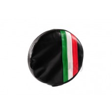 SPARE WHEEL COVER BLACK WITH ITALIAN FLAG