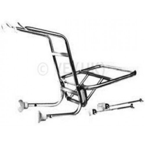 FRONT CARRIER  CHROME PX/T5/RALLY ,LML ,ROYAL ALLOY /SCOMADI