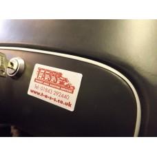 TOOLBOX/GLOVEBOX DOOR TRIM GREY